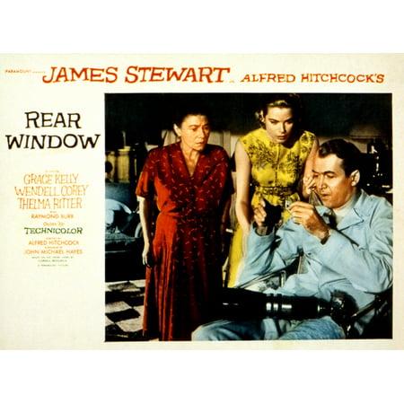 Rear Window Thelma Ritter Grace Kelly James Stewart 1954 Movie Poster (Kelly Movie Poster)