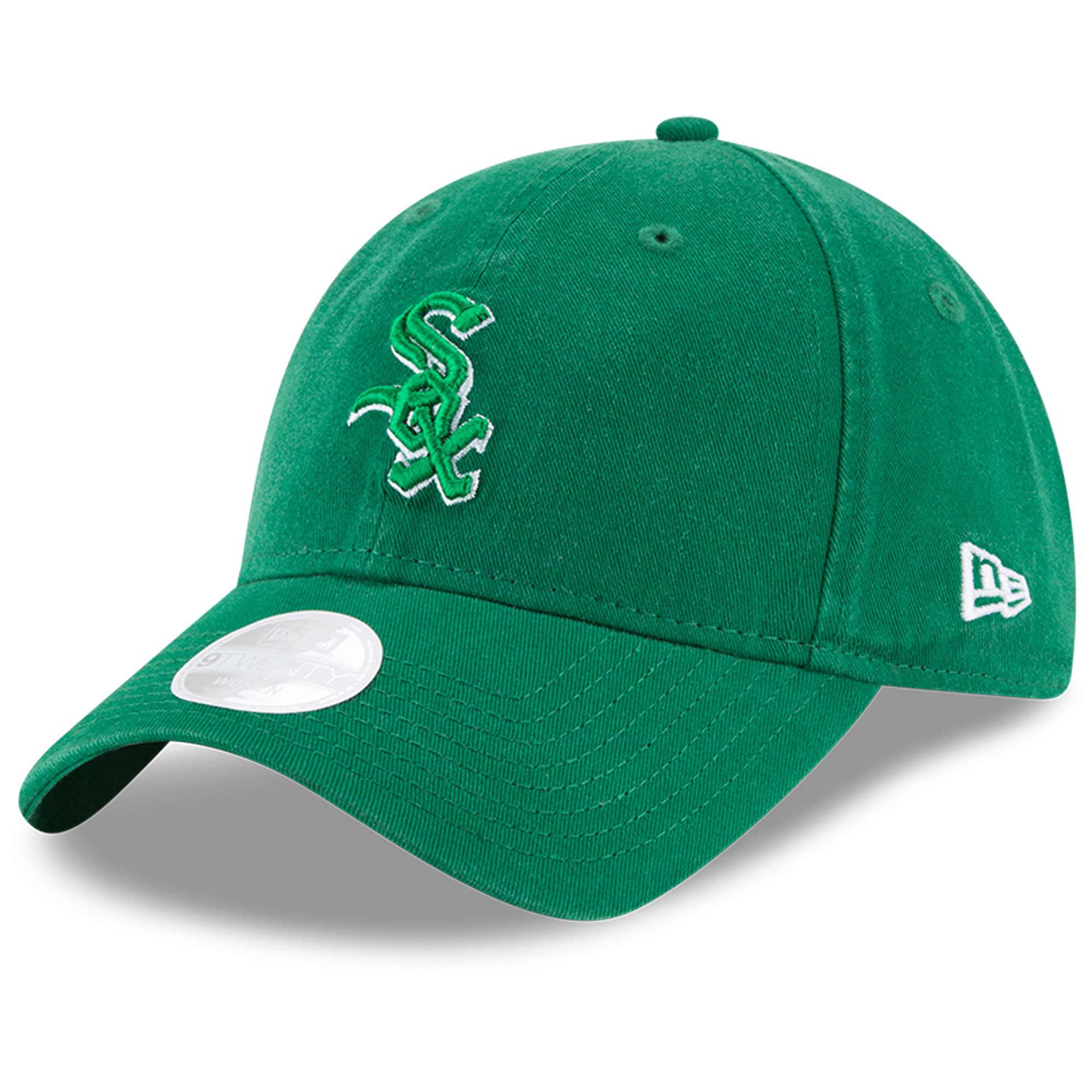 Chicago White Sox New Era Women's Core Classic Twill St. Patrick's Day 9TWENTY Adjustable Hat - Green - OSFA