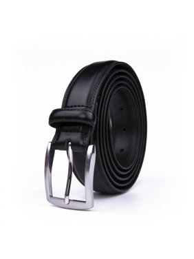 70cd2d11b Product Image Belt For Men, Classic 1.25-inch Wide Genuine Leather Dress  Belt - Black