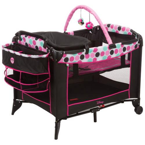 Disney Baby Sweet Wonder Playard, Black Minnie Dottie