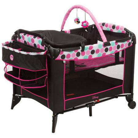 Disney Baby Sweet Wonder Playard  Black Minnie Dottie