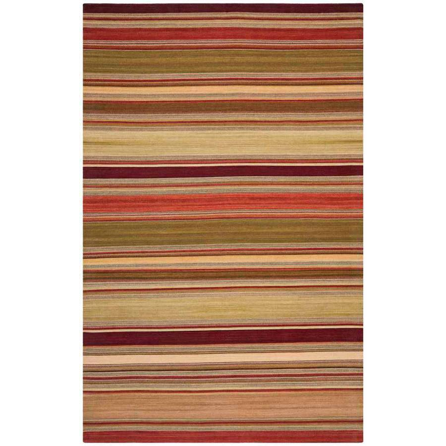Safavieh Striped Kilim Tris Hand Woven Wool Area Rug, Red