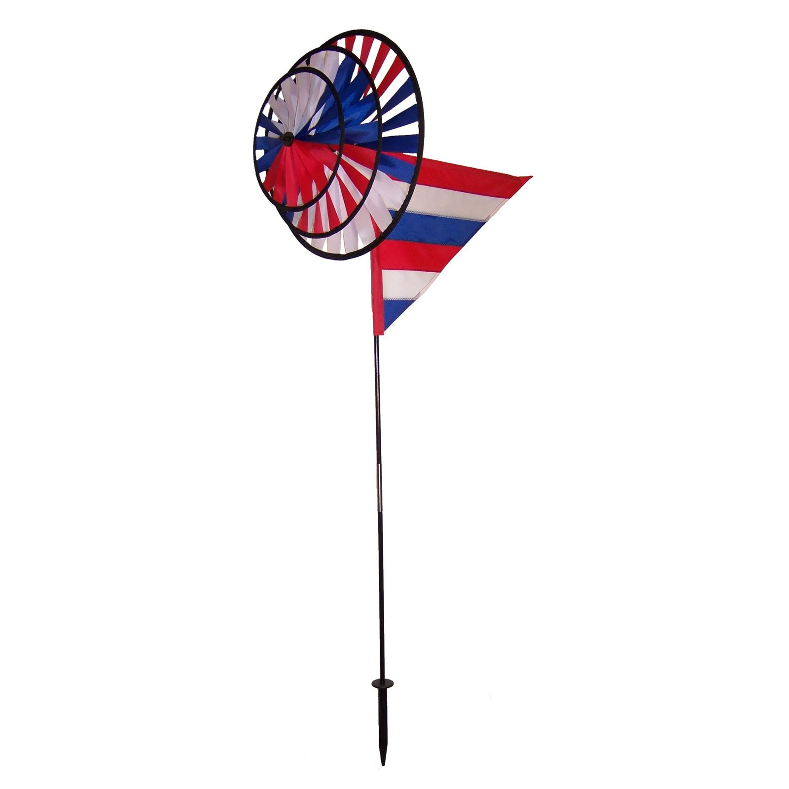 In the Breeze Red White Blue Triple Spinner with Sail