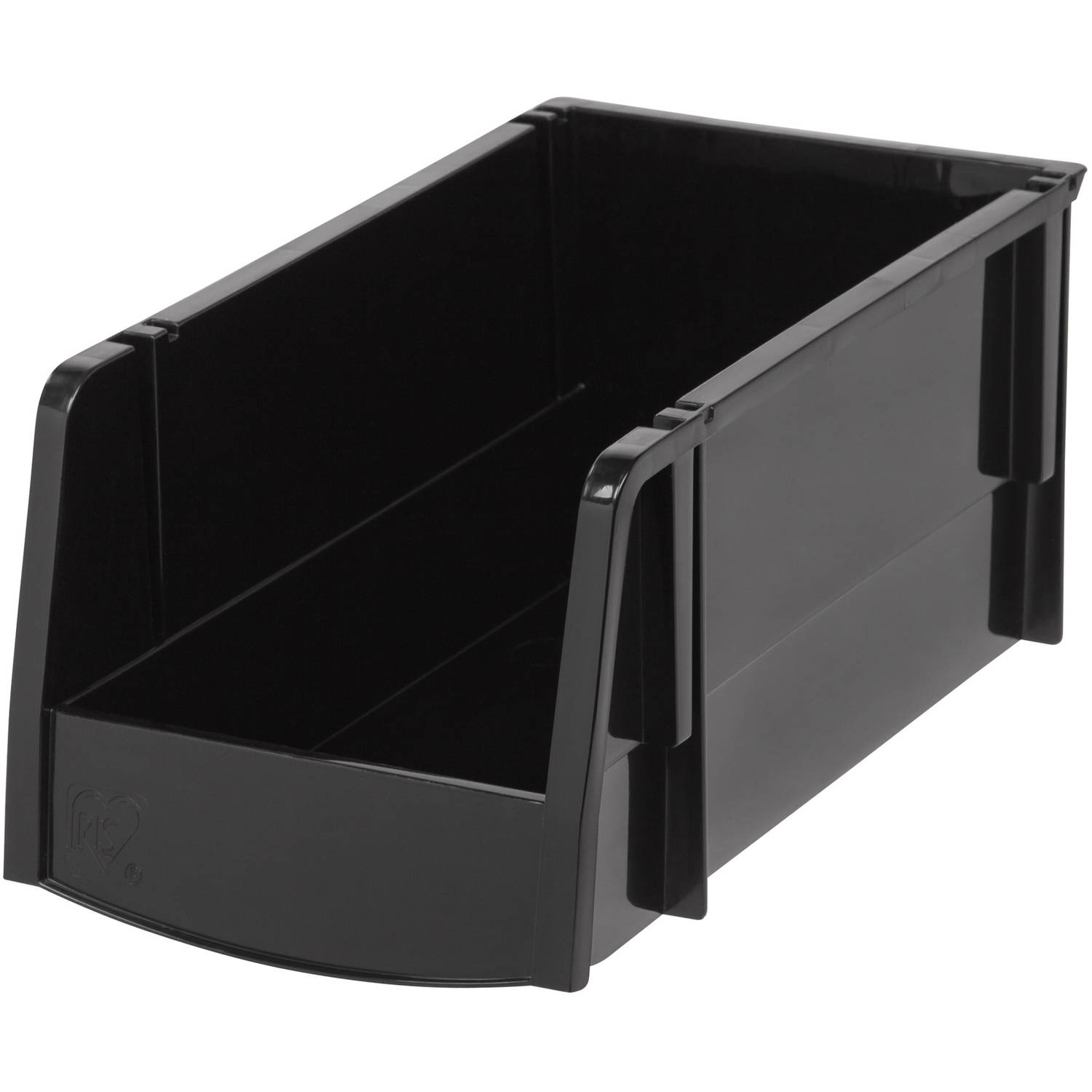 IRIS Medium Stacking Storage Bin, Black