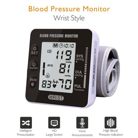 Advanced-accuracy Wrist Blood Pressure Monitor BP Cuff Heart Rate Checker Upper Arm Wrist Pulse Machine](Wrist Cuffs)