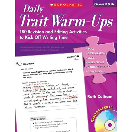 Daily Trait Warm-Ups, Grades 3 & Up: 180 Revision and Editing Activities to Kick Off Writing Time [With CDROM] - Halloween Writing Activities Elementary