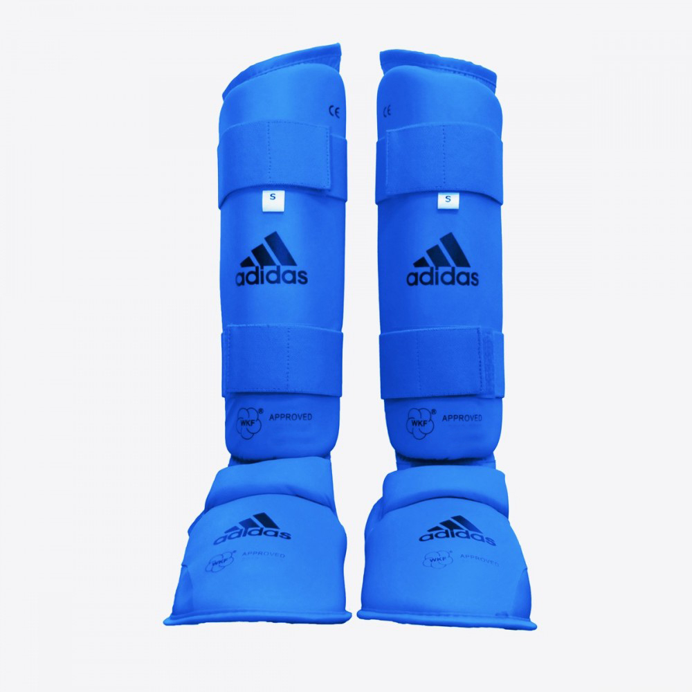 adidas Karate Shin & Instep, WKF Approved, Blue