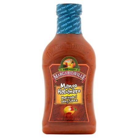 Green Habanero Sauce - (12 Pack) Margaritaville Mango Habanero Marinade & Wing Sauce, 16 oz