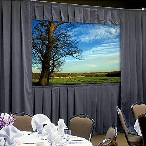 "Da-Lite Ultra Velour Fast-Fold Deluxe Drapery Presentation Kits for Deluxe Frames Without Skirt Bar 63"" x 84"" Area 10'"