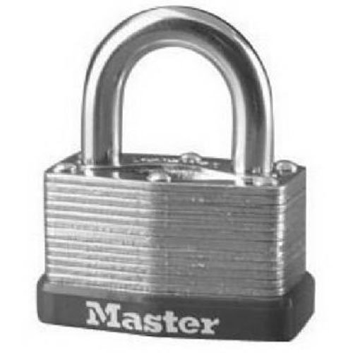 Padlock, Laminated Steel Warded Lock, 1-3/4 in. Wide, 500D, PADLOCK APPLICATION: For indoor and outdoor use; Lock is best used for sheds, gates,.., By Master Lock