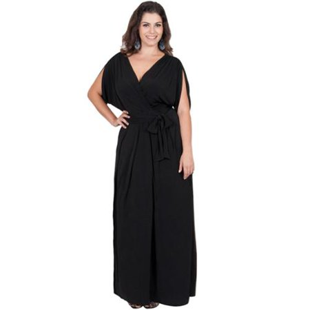 Koh Koh Womens Plus Size Batwing Tie Around Maxi Dress Xx Large