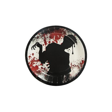 Zombie Party Cake Plates (8 Pack) - Halloween Party Supplies](Halloween Medical Supplies)