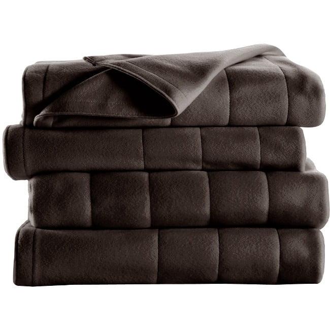 Sunbeam Quilted Fleece Heated Blanket, Queen, Lagoon