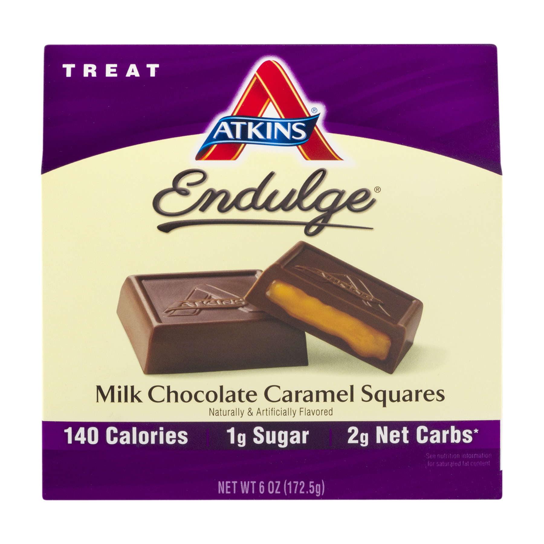 Atkins Endulge Milk Chocolate Caramel Squares, 5-pack (Treat)