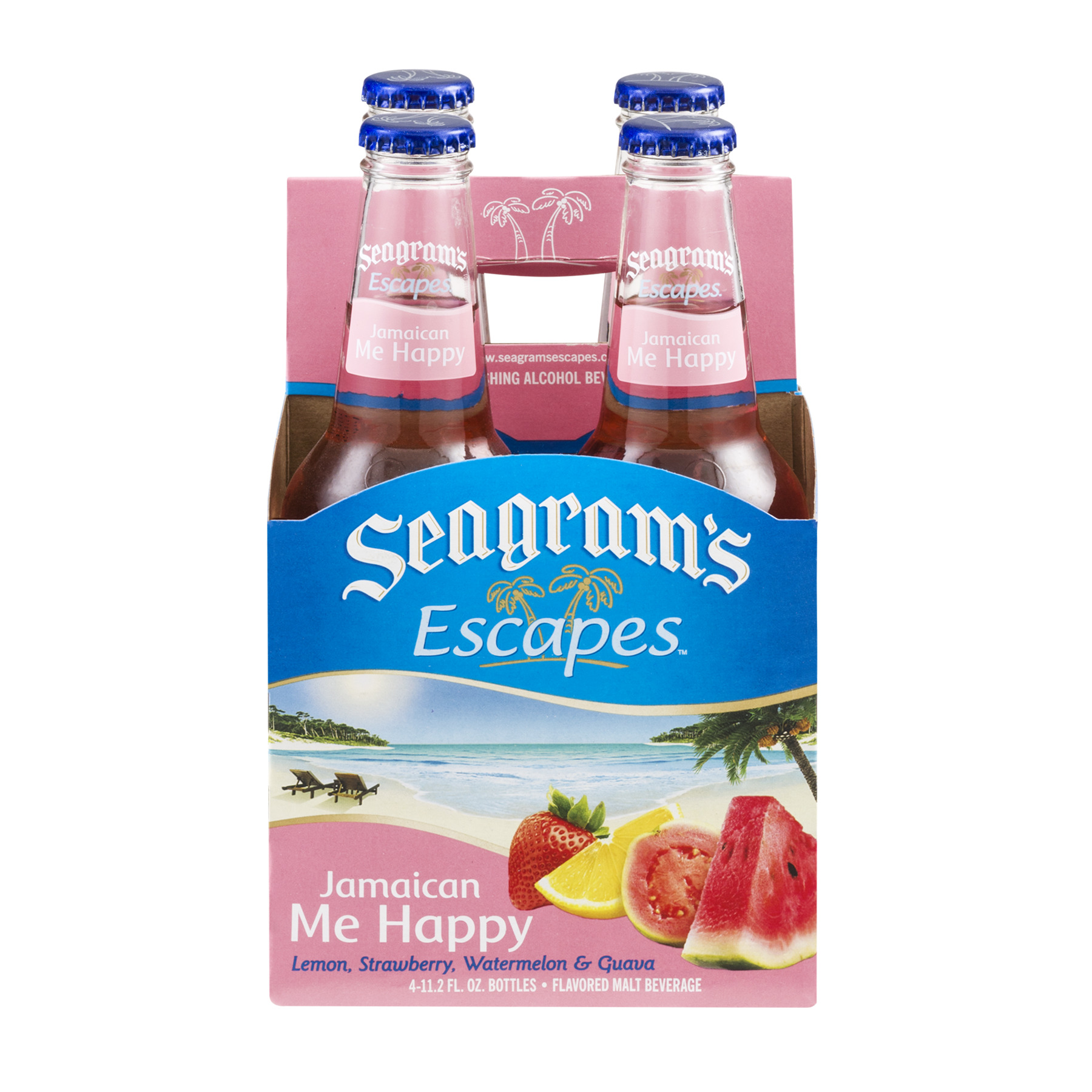 Seagram's Escapes Malt Beverage Bottles Jamaican Me Happy, 11.2 FL OZ