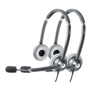 Jabra Voice 750 Duo Dark MS Stereo Corded Headset w/ Noise Reduction System (2-Pack)