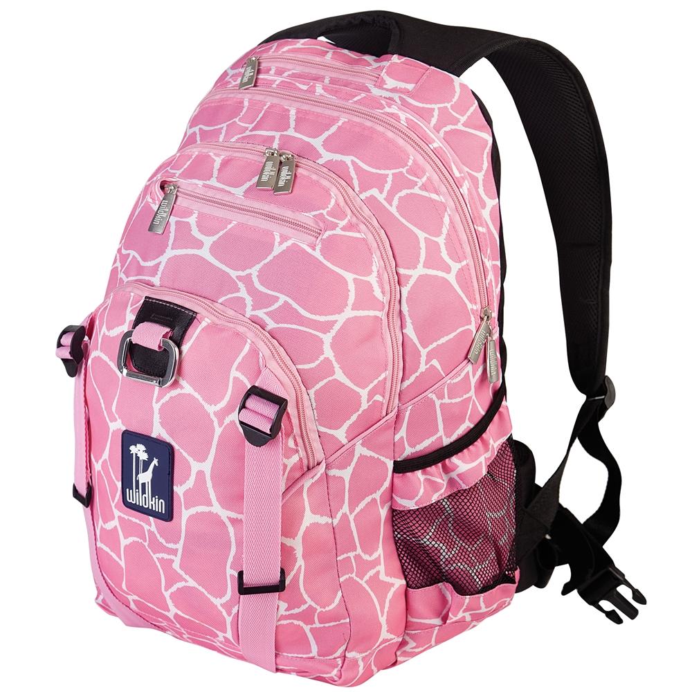 Wildkin 53260 Pink Giraffe Serious Backpack