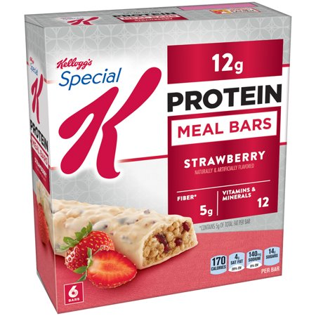 Kellogg's Special K Protein Meal Bar, Strawberry, 12g Protein, 6