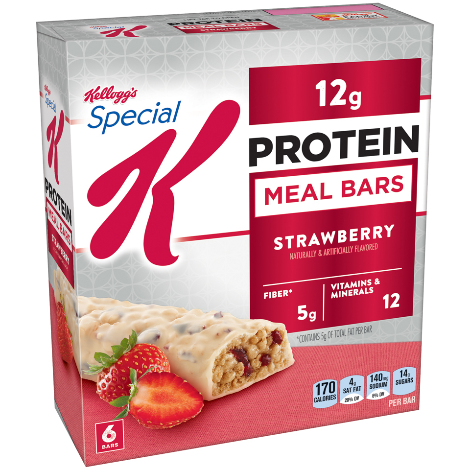 Kellogg's Special K Protein Meal Bar, Strawberry, 12g Protein, 6 Ct