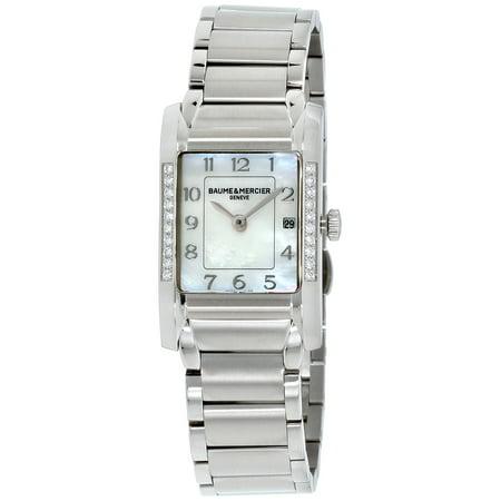 Baume Mercier Hampton Mother Of Pearl Dial Stainless Steel Ladies Watch M0A10051