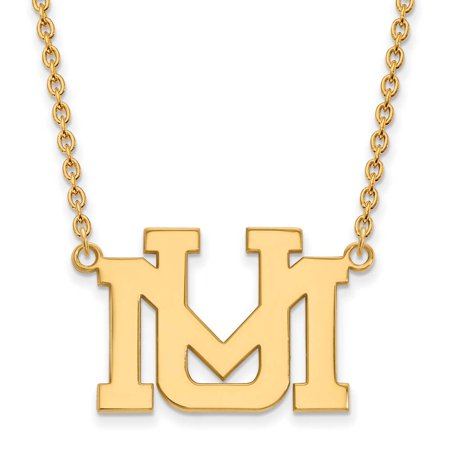 Montana Large (3/4 Inch) Pendant w/Necklace (10k Yellow Gold)