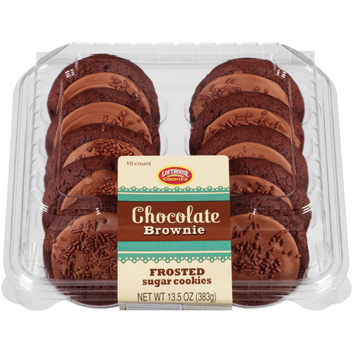 Lofthouse Chocolate Brownie Frosted Sugar Cookies, 10 ct, 13.5 oz