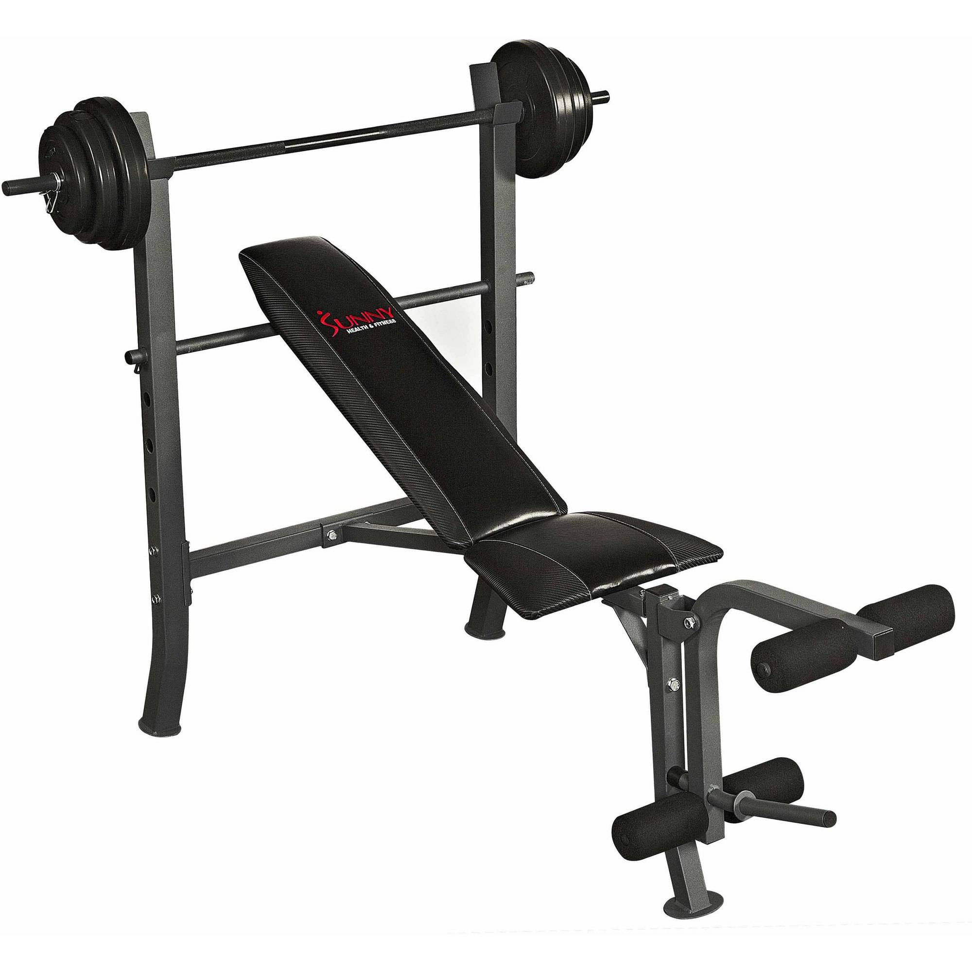 Sunny Health and Fitness SF-BH6510 100 lb Weight/Bench Set
