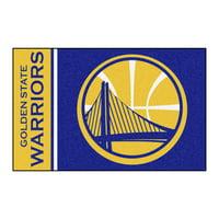 """NBA - Golden State Warriors Uniform Starter Rug 19""""x30"""""""
