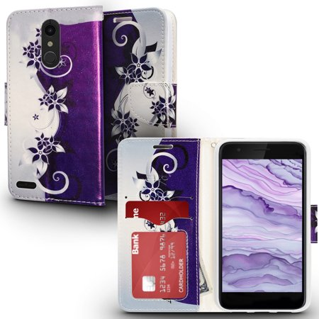 ZV Design Wallet Flap Pouch LG K30 Case with Credit Card And ID Holder LG Harmony 2 Case