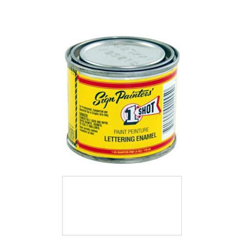 1/4 Pint 1 Shot POLAR WHITE Paint Lettering Enamel Pinstriping & Graphic Art