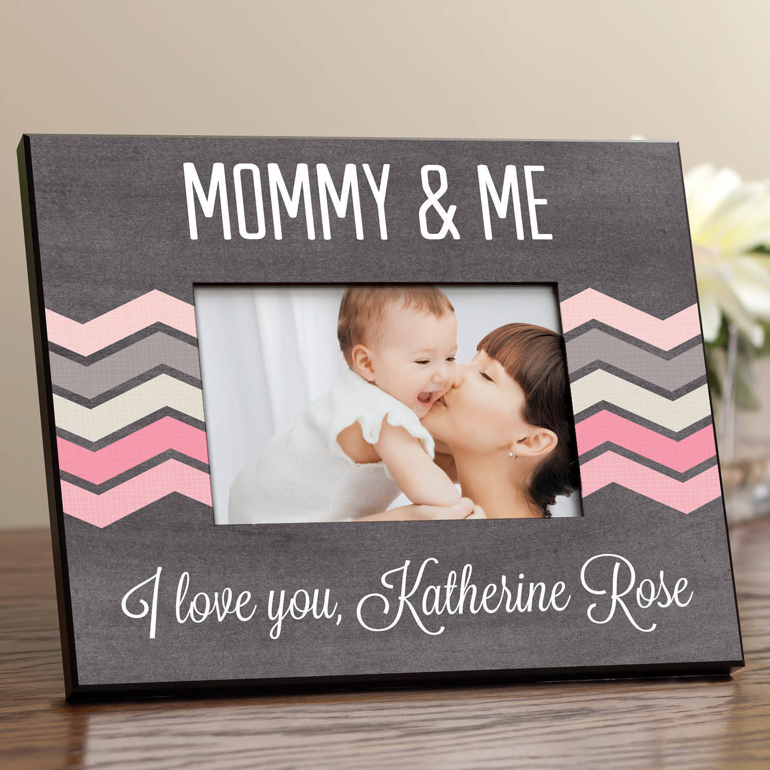 For Her Personalized Picture Frame, Pink