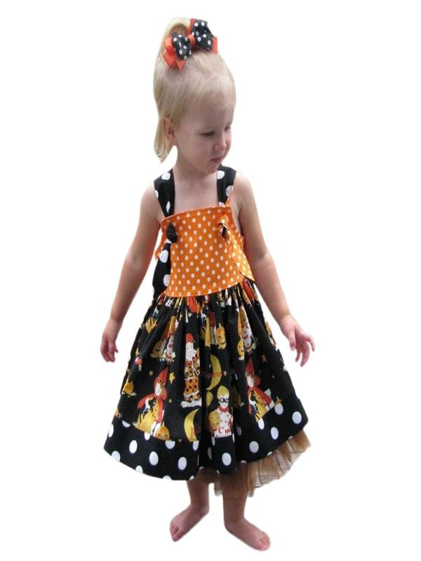 Mosunx Infant Toddler Baby Girls Pumpkin Bow Party Dress Halloween Clothes Dresses