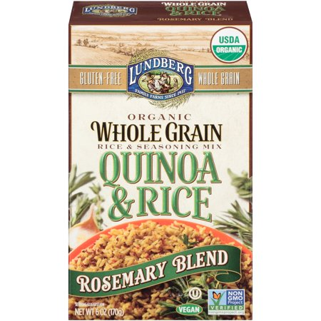 Lundberg Organic Whole Grain Quinoa   Rice Rosemary Blend  6 0 Oz