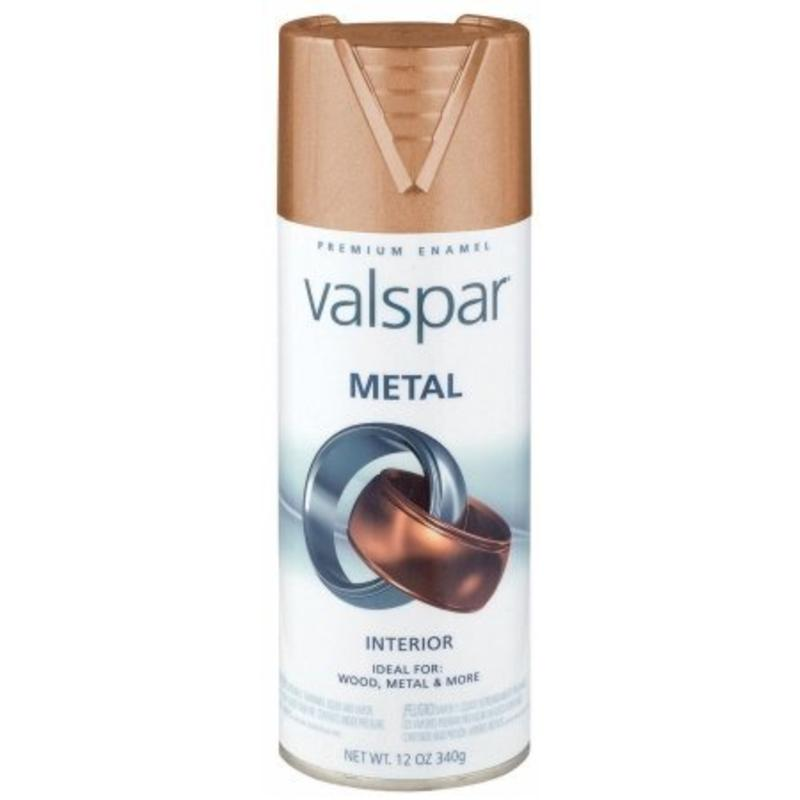 Flat Copper 12 Oz Metallic Metal Spray Paint  VALSPAR Spray Paint 66003 Copper
