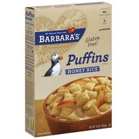 Barbara's Puffins Honey Rice Cereal, 10 oz (Pack of 12)