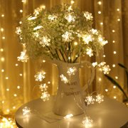 Snowflake LED String Fairy Lights Battery Christmas Wedding Party Holiday Decoration Lamps
