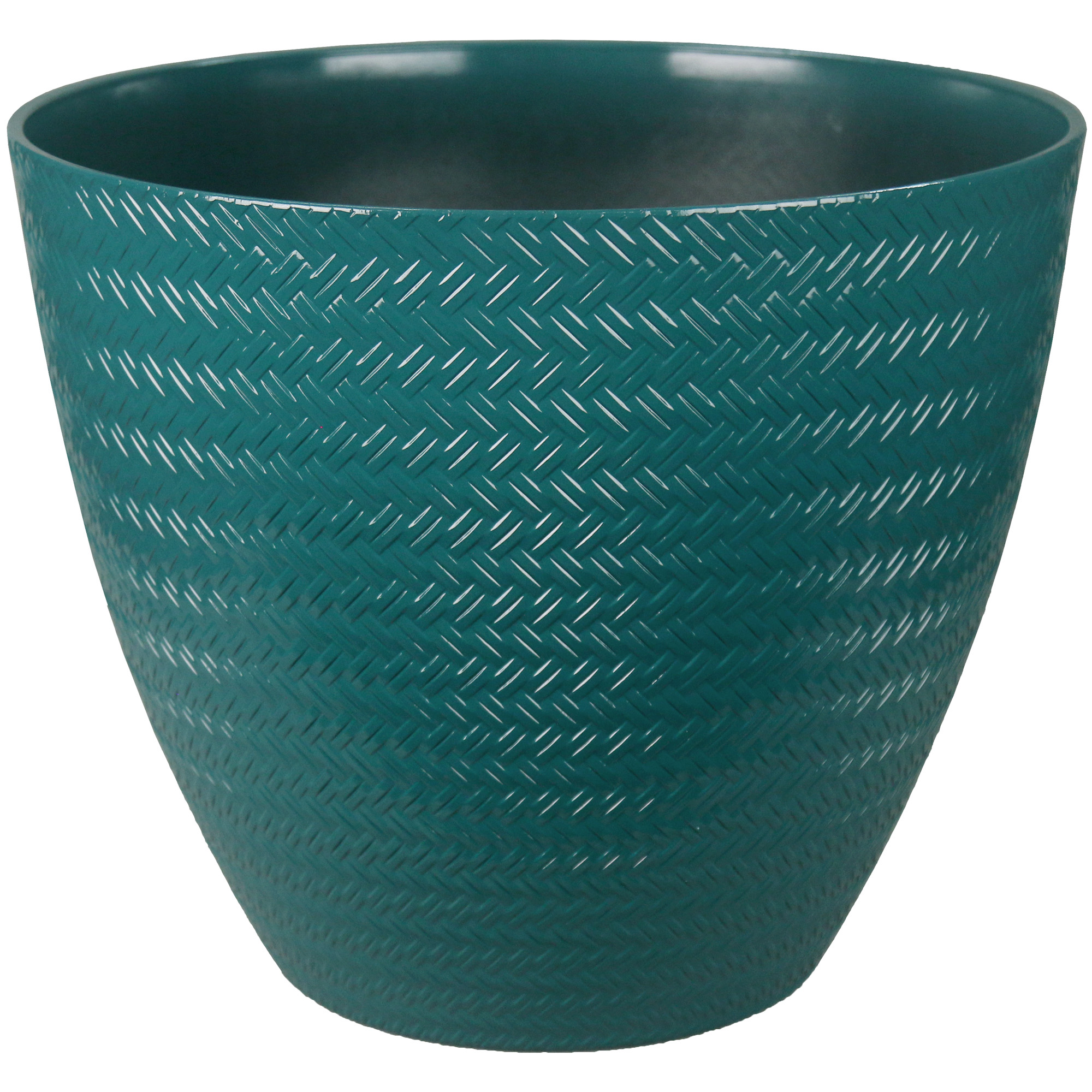 16IN WEAVE PLANTER TEAL
