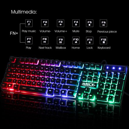 gaming keyboard eeekit rgb led backlit 104 keys usb wired gaming keyboard ergonomic illuminated. Black Bedroom Furniture Sets. Home Design Ideas