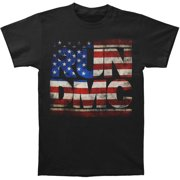 Run DMC Men's  Americana Logo T-shirt Grey