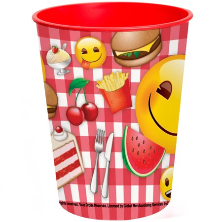 Unique Industries Picnic Food Summer Emoji Plastic Cup 16 Oz 1ct