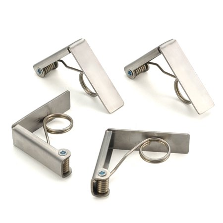 RSVP International Endurance Stainless Steel Tablecloth Clips, Set of 4,Silver,1 pack - Tablecloth Clips