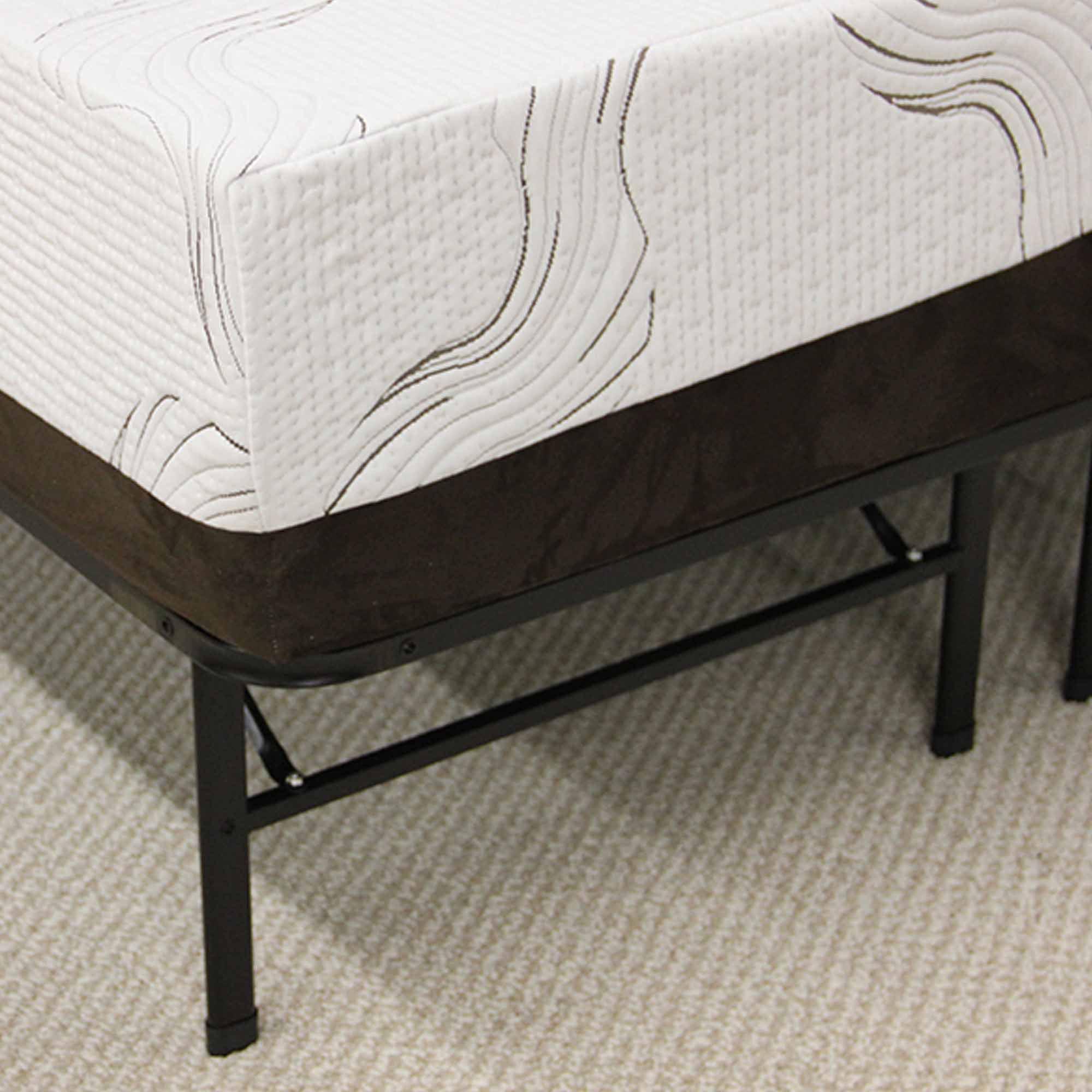 modern sleep platform metal bed frame mattress foundation walmartcom