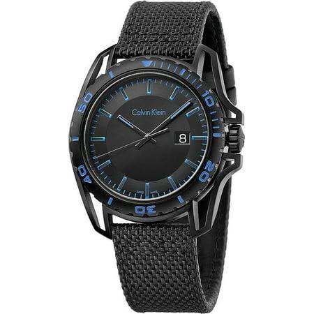 Men's Black ck Earth Fabric Strap Watch (Ck Mens Watches Jean)