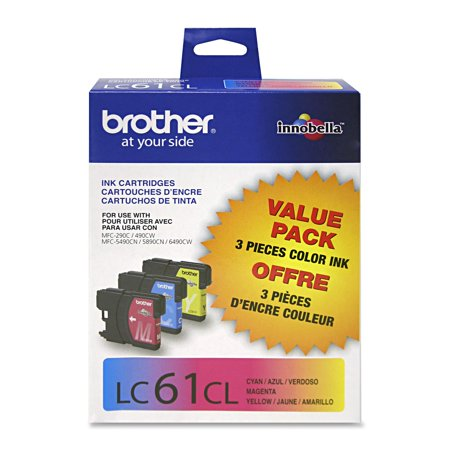 American Standard Replacement Cartridge (Brother Genuine Standard Yield Color Ink Cartridges, LC613PKS, Replacement 3 Pack of Color Ink, Includes 1 Cartridge Each of Cyan, Magenta & Yellow, Page Yield Up To 325 Pages/Cartridge, LC61 )