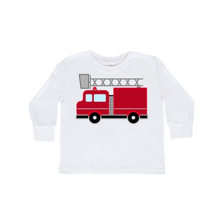 red firefighter fire truck Toddler Long Sleeve - Firefighter Girls