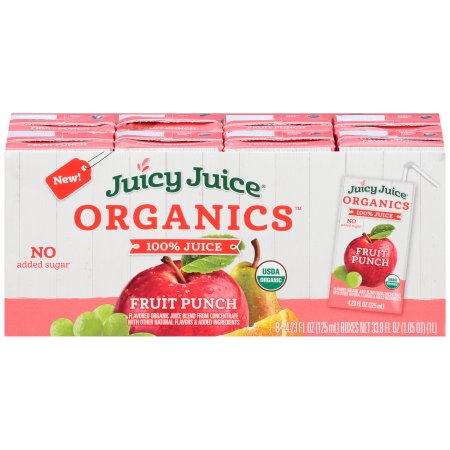 Juicy Juice 100% Organic Juice, Punch, 4.23 Fl Oz, 8 Count