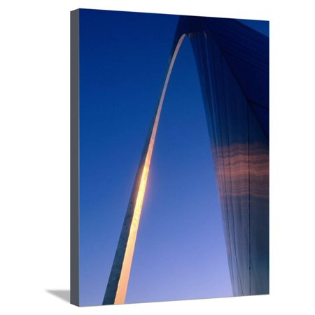 Detail of Jefferson National Expansion Memorial Gateway Arch, by Eero Saarinen, St. Louis, Missouri Stretched Canvas Print Wall Art By John Elk III