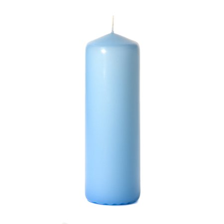 3 Pcs, 3x9 Light Blue Pillar Candles Unscented 3 in. diameterx9 in. tall 3x9 Inch Glass Pillar Candle