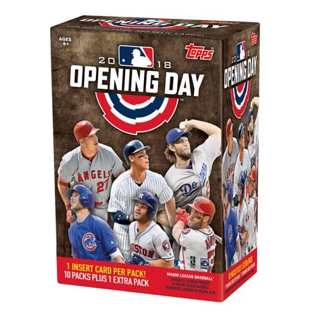 2018 Topps Opening Day Baseball Retail Value Box Factory Sealed 11 Pack Box (2018 Topps Factory Set)