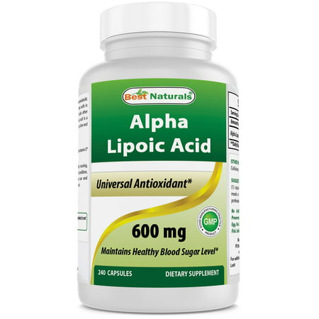 Best Naturals Antioxidant Alpha Lipoic Acid Capsules, 600mg, 240
